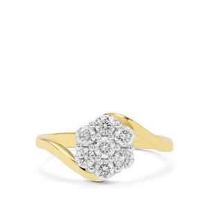 GH Diamond Ring in 18K Gold 0.75ct