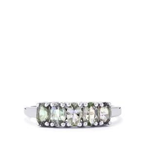 1.21ct Green Tanzanite Sterling Silver Ring