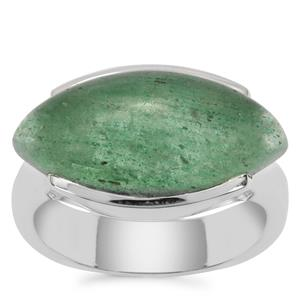 Kiwi Quartz Ring in Sterling Silver 9cts