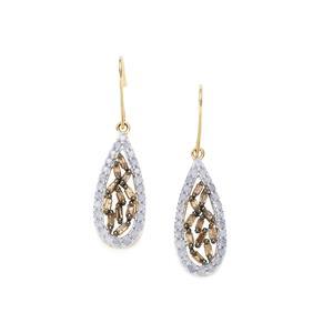 1ct Champagne & White Diamond 10K Gold Tomas Rae Earrings
