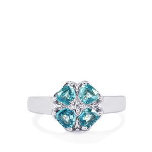 1.63ct Manyoni Blue & White Zircon Sterling Silver Ring