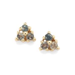 Tunduru Colour Change Sapphire Earrings in 9K Gold 0.29ct