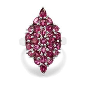 4.31ct Rajasthan Garnet Sterling Silver Ring