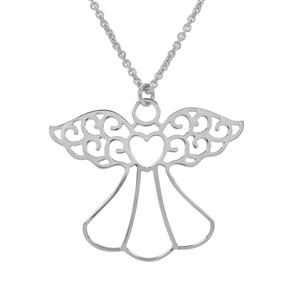 """18"""" Sterling Silver Altro Angel Necklace 3.83g"""