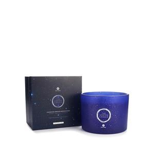 Gem Auras High Vibration Triple Wick Candle with Lapis Lazuli, Clear Quartz and Amethyst Meditation Gemstones ATGW 210cts