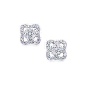 1/2ct Diamond Sterling Silver Earrings