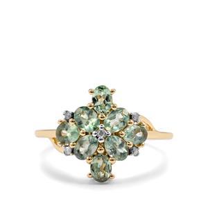 Alexandrite & Diamond 10K Gold Ring ATGW 1.59cts