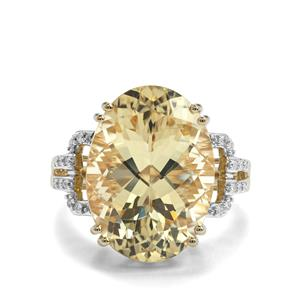 Serenite Ring with Diamond in 14K Gold 11.05cts