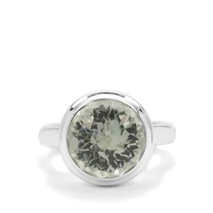 Eden Cut Prasiolite Ring in Britannia Silver 7.82cts