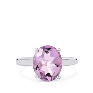 Rose De France Amethyst Ring in Sterling Silver 3.03cts