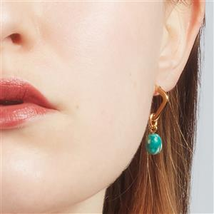 Molte Mini Geo Hoop Earrings in Gold Plated Silver