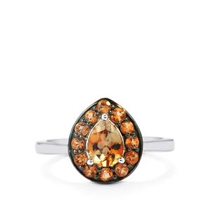 Gouveia Andalusite Ring in Sterling Silver 1.08cts
