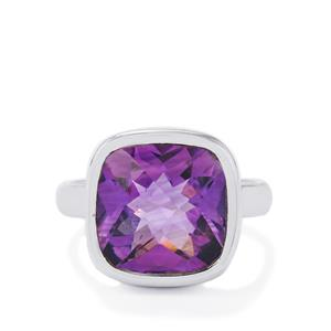 6ct Bahia Amethyst Sterling Silver Ring