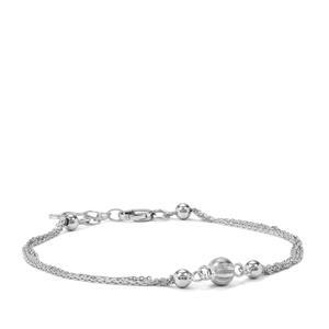 "7"" Sterling Silver Altro Station Bracelet 2.11g"