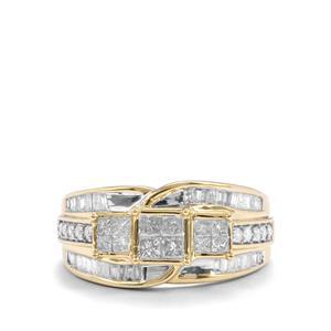 Diamond Ring in 9K Gold 0.76ct