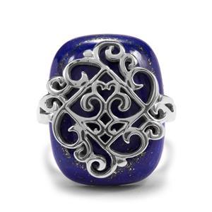 23.68ct Sar-i-Sang Lapis Lazuli Sterling Silver Ring