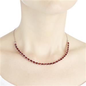 16.48ct Cuamba Garnet Sterling Silver Necklace