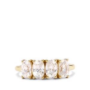 3.50ct Singida Tanzanian Zircon 9K Gold Ring