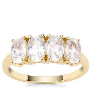 Singida Tanzanian Zircon Ring in 9K Gold 3.50cts