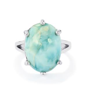 13.08ct Larimar Sterling Silver Ring