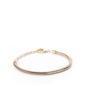 "6.5""- 8.5"" Gold Plated Sterling Silver Kama Charm Bracelet"