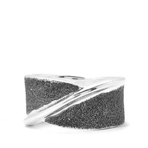 Viorelli 925 Sterling Silver Ring Plated with Black Ruthenium