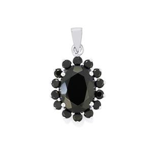 9.52ct Black Spinel Sterling Silver Pendant