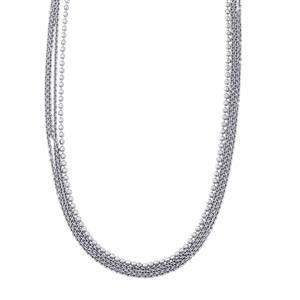"26"" Sterling Silver Diamond Cut Slider Necklace 12.93g"