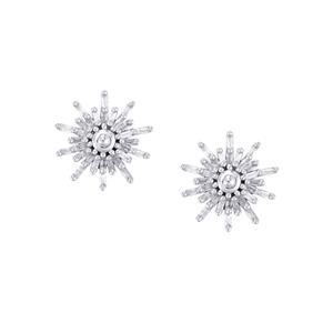Diamond Earrings in Sterling Silver 0.52ct