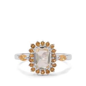 Serenite & Diamantina Citrine Sterling Silver Ring ATGW 1.71cts