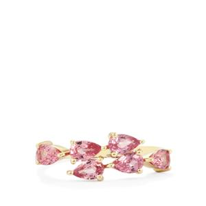 Sakaraha Pink Sapphire Ring in 9K Gold 1.43cts