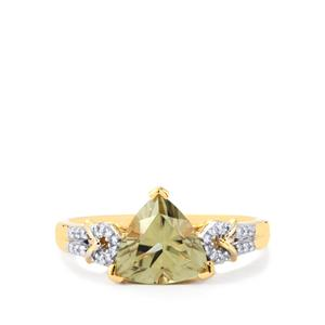 Csarite® Ring with Diamond in 18k Gold 2.17cts