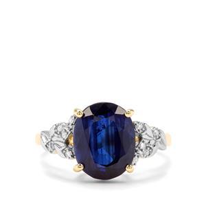 Nilamani & Diamond 9K Gold Tomas Rae Ring ATGW 4.88cts