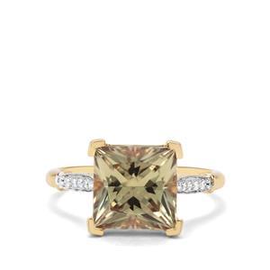 Csarite® & Diamond 18K Gold Lorique Ring MTGW 4.21cts
