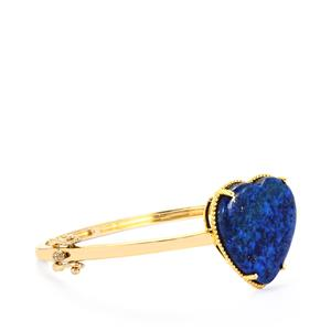 Sar-i-Sang Lapis Lazuli Oval Bangle in Gold Plated Sterling Silver 27.53cts