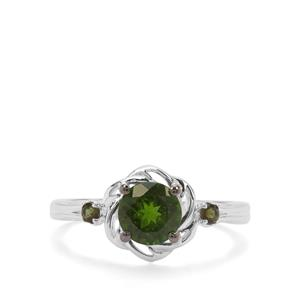 Chrome Diopside & Green Tourmaline Sterling Silver Ring ATGW 1.29cts