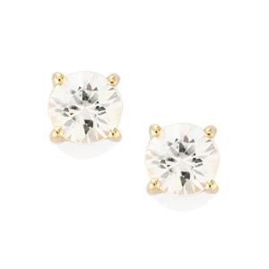 Singida Tanzanian Zircon Earrings in 10K Gold 1.36cts