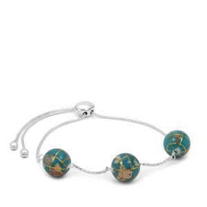 Atlas Globe Sterling Silver Slider Bracelet