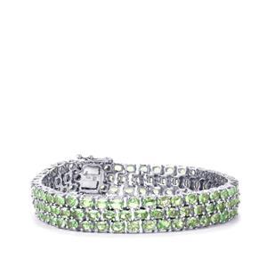 Tsavorite Garnet Bracelet in Sterling Silver 21.84cts