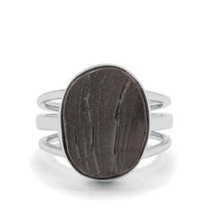 Shungite Ring in Sterling Silver 7cts