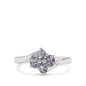 0.98ct Bi Colour Tanzanite Sterling Silver Ring