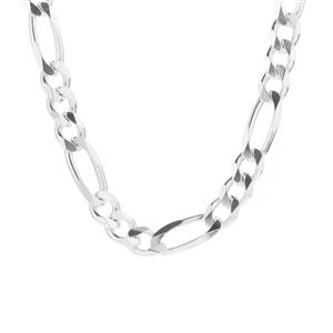 """20"""" Sterling Silver Couture Figaro Chain 64.90g"""