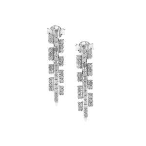 3/4ct Diamond Sterling Silver Earrings