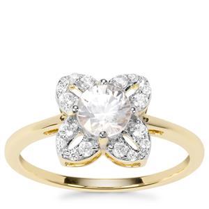 Singida Tanzanian Zircon Ring with White Zircon in 9K Gold 1.15cts