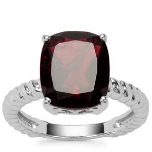 Octavian Garnet Ring in Sterling Silver 6.28cts
