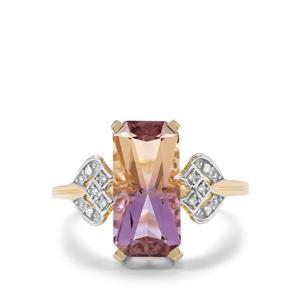 Anahi Ametrine & Diamond 9K Gold Ring ATGW 3.62cts