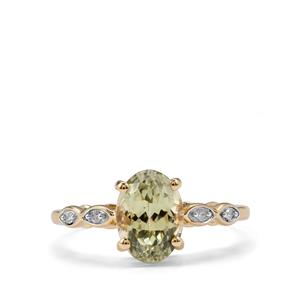 Sillimanite & Diamond 10K Gold Ring ATGW 1.79cts
