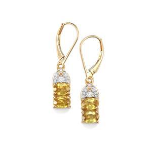 Ambilobe Sphene & Diamond 18K Gold Tomas Rae Earrings MTGW 2.54cts