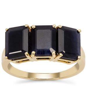Ethiopian Blue Sapphire Ring in 9K Gold 5.63cts