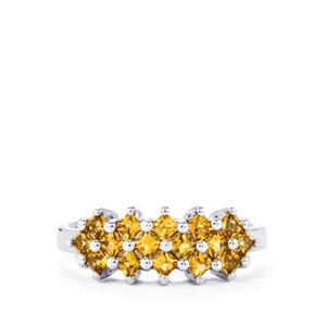 Yellow Tourmaline Ring in Sterling Silver 0.71ct